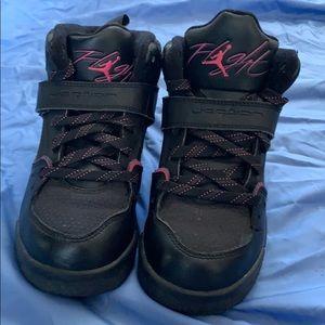 Black and Hot Pink Jordan Flights